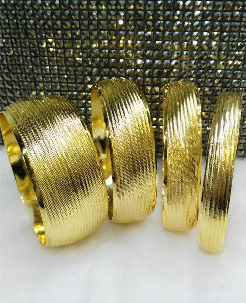 22 Ayar Altın Kaplama Mega Bilezik 4cm, İmitasyon Bilezikler-13