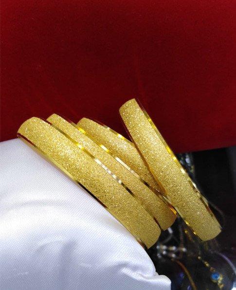 Simli Kumlu Bilezik, 22 Ayar Altın Kaplama Kumlu Bilezik-5