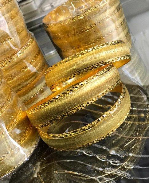 22 Ayar Altın Kaplama Bilezik 1.5cm, İmitasyon Bilezik-40