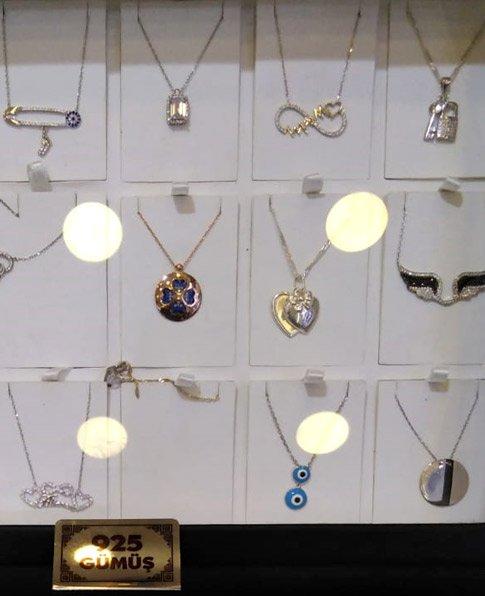 Gümüş Kolye Modelleri, 925 Ayar Bayan Gümüş Kolyeler-01