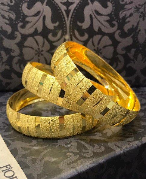22 Ayar Altın Kaplama Bilezik 1.5cm, İmitasyon Bilezik-48