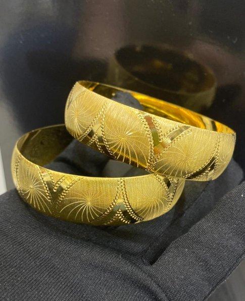 22 Ayar Altın Kaplama Bilezik 2cm, İmitasyon Bilezik-63