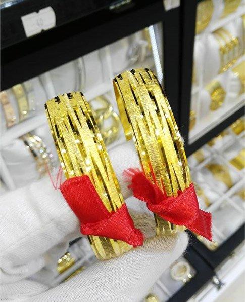 22 Ayar Altın Kaplama Bilezik 1.5cm, İmitasyon Bilezik-24